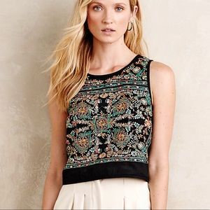 Vanessa Virginia berbera midi embroidered top